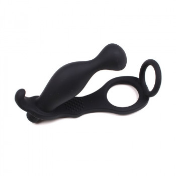 Anal-Vibrator Push It mit Cock und Ball Ring