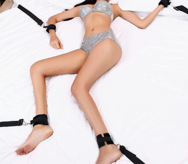 Bettfessel-Set Bed Bondage Bänder mit Hand Fuß Fesseln