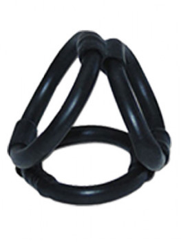 Tri Ring Cock Cage Latex dreifach Penisring a